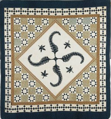 From Brackman's blog on Princess Feather quilts :indigo version by Elizabeth Alexander, now in the Minneapolis Institute of the Arts, estimated date ca. 1830.