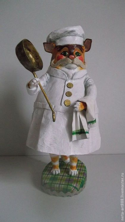 Коллекционные куклы ручной работы. Ярмарка Мастеров - ручная работа. Купить Повар. Handmade. Белый, дерево