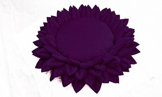 Purple Lotus Flower Meditation Pillow Yoga Pillow Round Meditation Gifts Personalized Wedding Gifts Meditation Room Decor Buddha Decor #buddhadecor