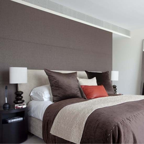 headboard feature wall feature walls ideas housetohome grey feature wall bedroom photo by mydeco insider 550x550 - Bedroom Feature Wall Paint Ideas