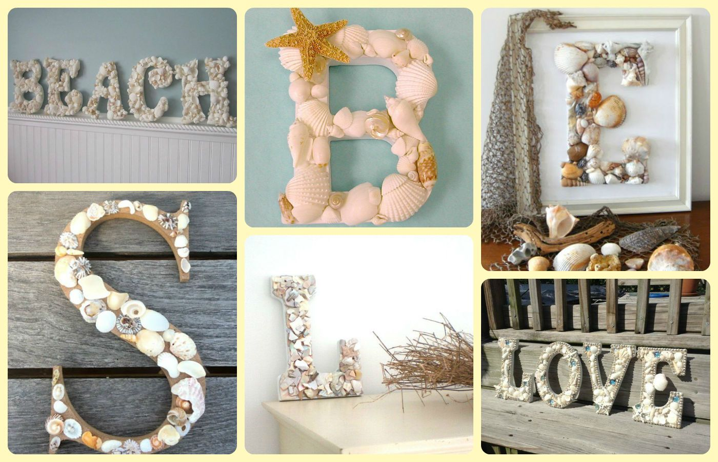 Fabulous Home Decor Ideas With Shells And Starfish Letters From Shells Decoration Crafts Shells Summer Crafty Projects Crafts Decor