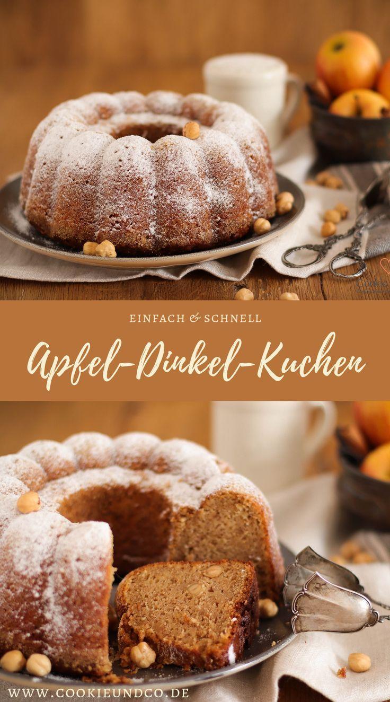 Apfel-Dinkel-Kuchen (Familienrezept) | Cookie und Co #quickcookies