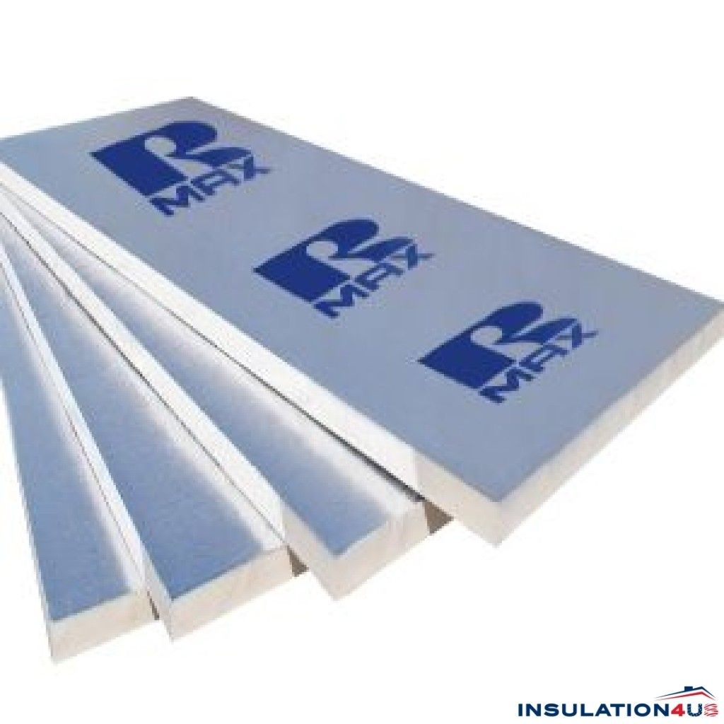 R Max 2 5in X 4ft X 8ft Polyiso Rigid Foam Insulation Board Rigid Foam Insulation Foam Insulation Board Insulation Board