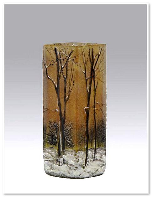 Small Winter Vase - Daum Frères