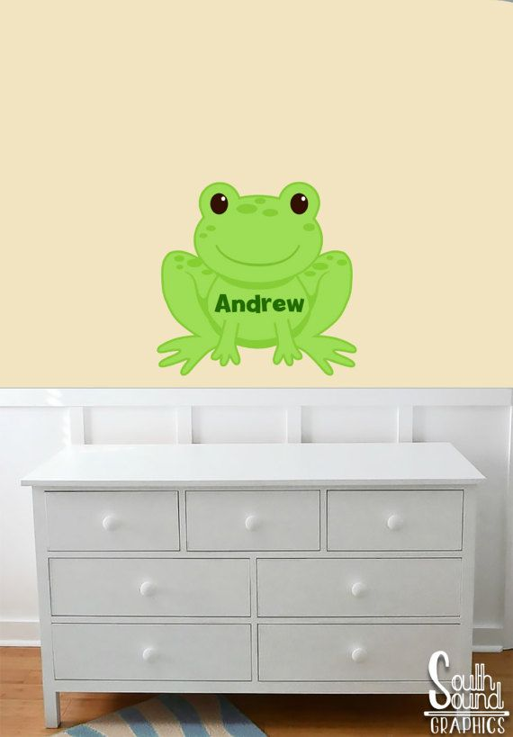 Fabric Wall Decal for Boys Nursery and Kids Rooms - Frog Room Wall ...
