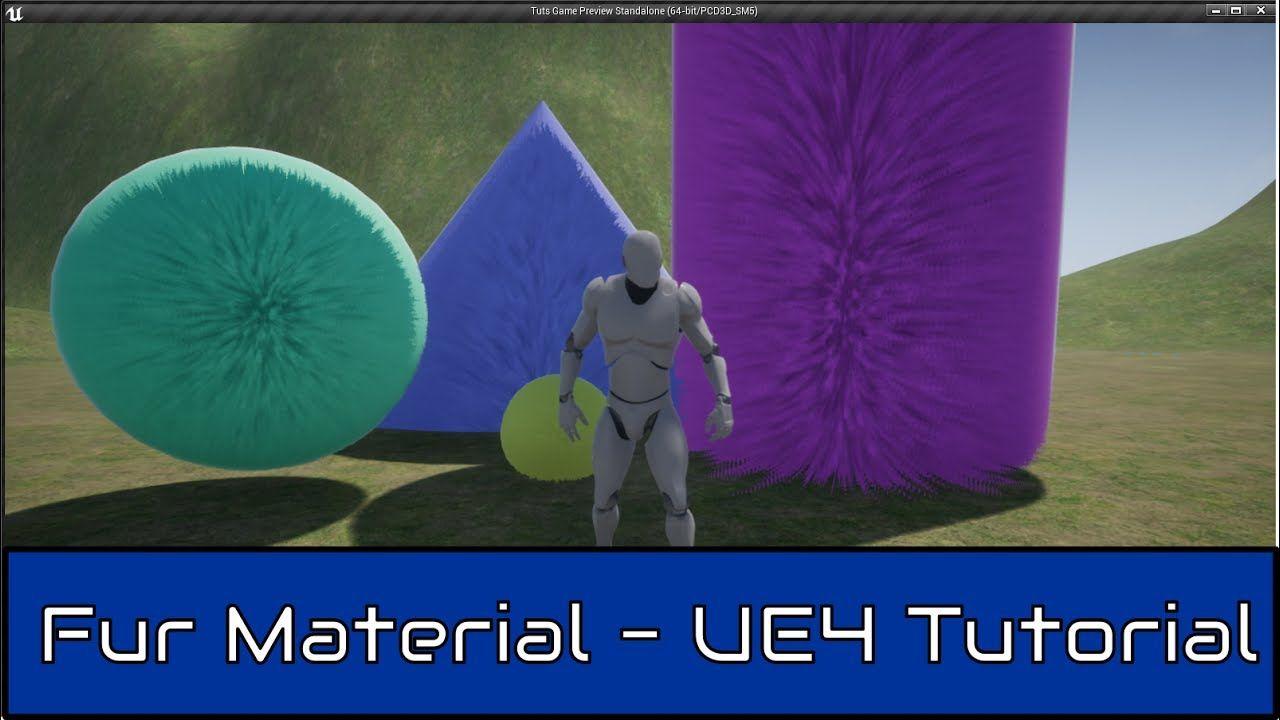 unreal engine 4 fur material tutorial ue4 pinterest