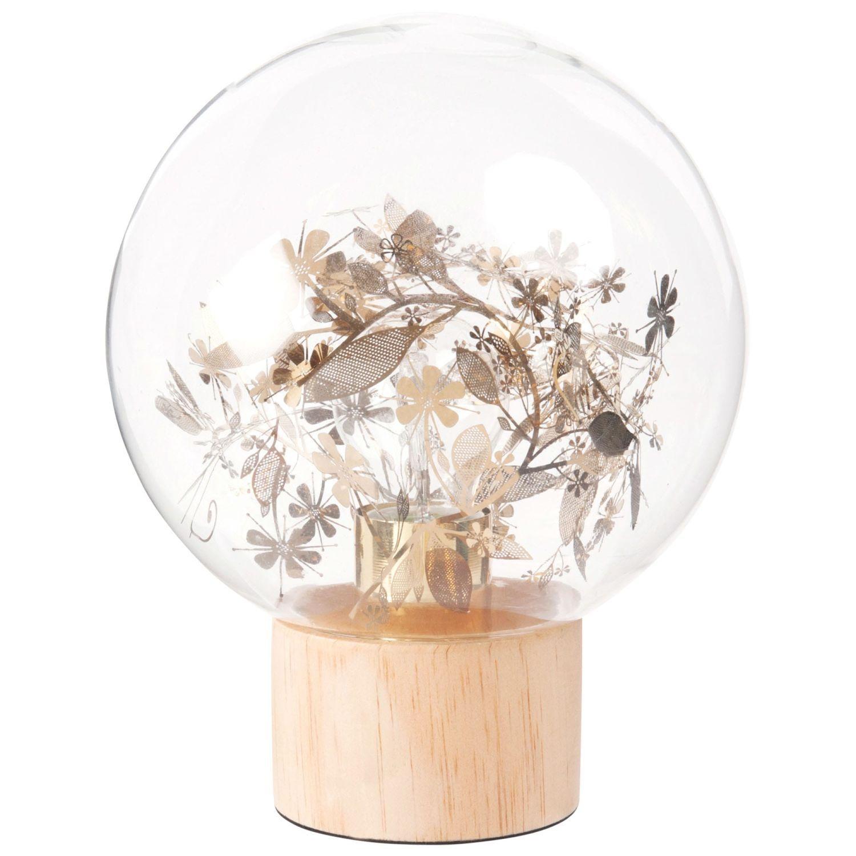 Lampe Boule En Verre Imprime Feuilles Et Pin Maisons Du Monde Boule En Verre Verre Imprime Lampe Boule