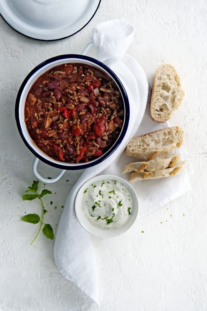 Chili con carne met muntyoghurt | Gezond Idee