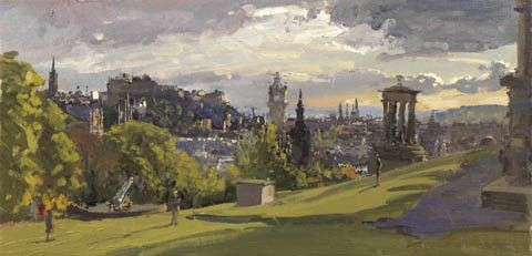 Art Prints Gallery - Early May Evening from Calton Hill (Limited Edition), £115.00 (http://www.artprintsgallery.co.uk/Peter-Brown/Early-May-Evening-from-Calton-Hill-Limited-Edition.html)