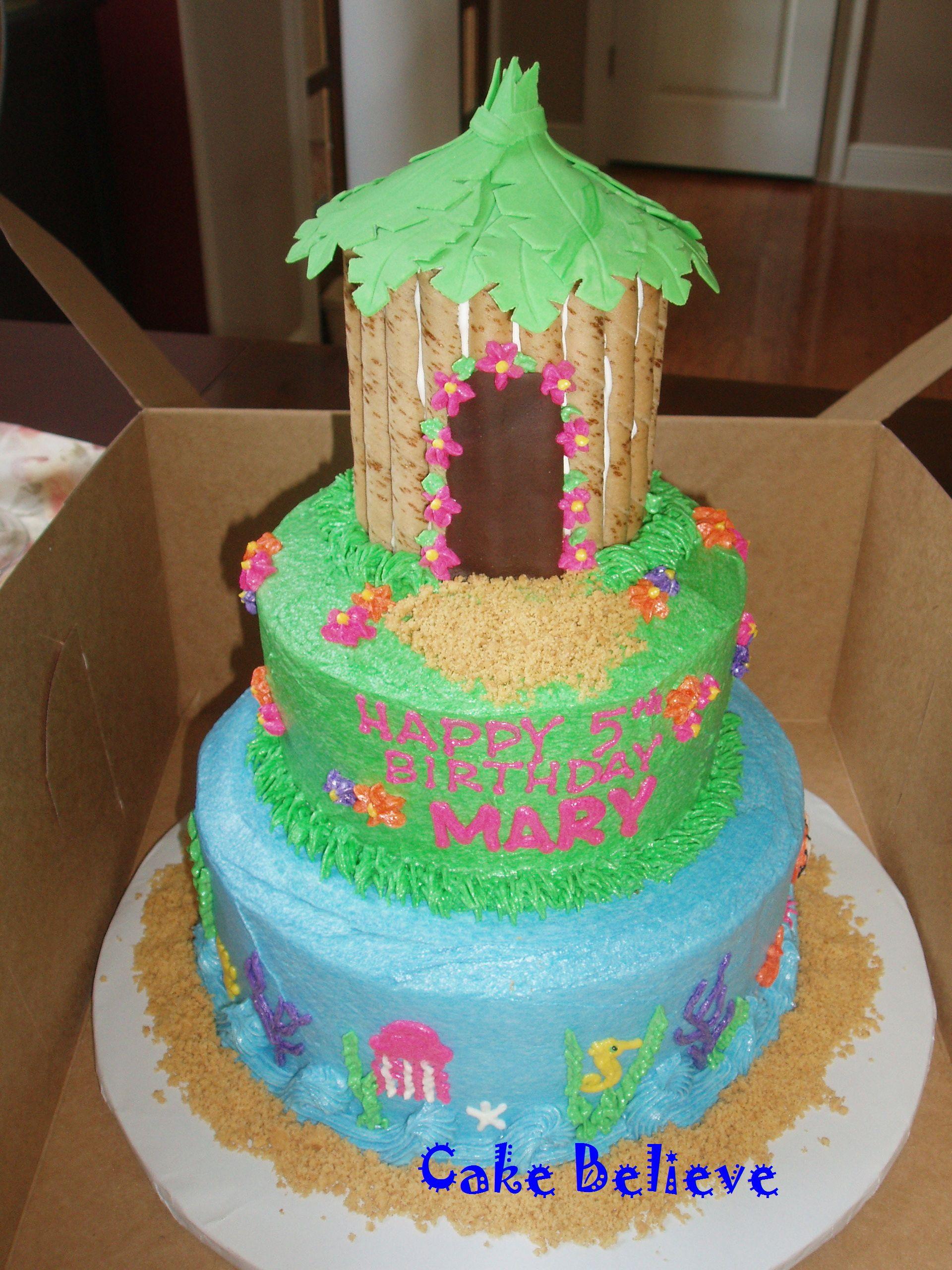 Luau Tiki Birthday Cake Love The Hut Luau Pinterest Luau
