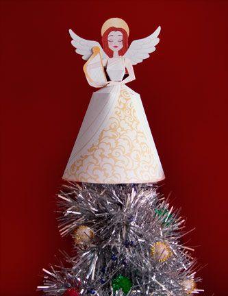 Angel tree topper printable 1109   scribd   knutselen, kleuren, kerst.