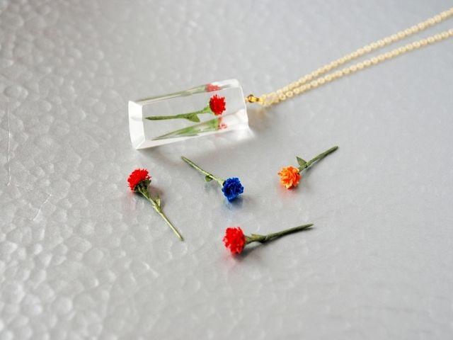 ★カラーオーダー可★一輪の花。ペンダント