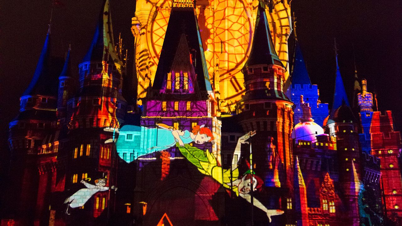 Once Upon a Time Projection Show at the Magic Kingdom Walt Disney World