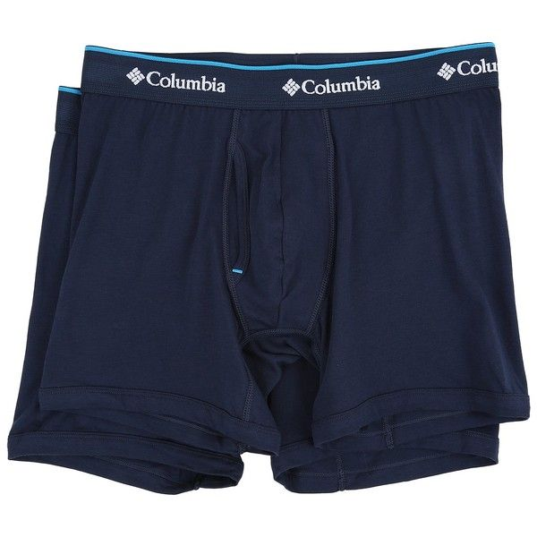 32a466100704 Columbia Cotton Stretch Boxer Briefs 2-Pack (Dress Blue) Men's... ($28) ❤  liked on Polyvore featuring men's fashion, men's clothing, men's underwear,  mens ...