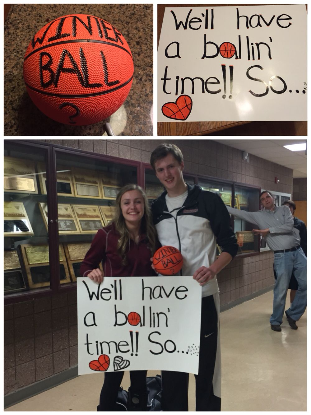 Winter Ball Proposal (Girl ask Guy) | Cute homecoming proposals ...