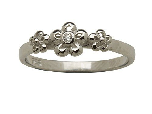 Sterling Silver Baby Bangle April Birthstone