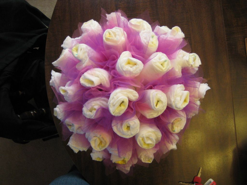Look what I can do! Diaper Bouquet :) | Diaper bouquet, Diapers and ...