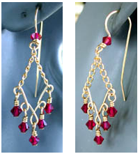 Instructions for making Wire Chandelier Earrings out of jewelry ...