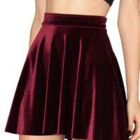 Velvet Mulled Wine Skater Skirt
