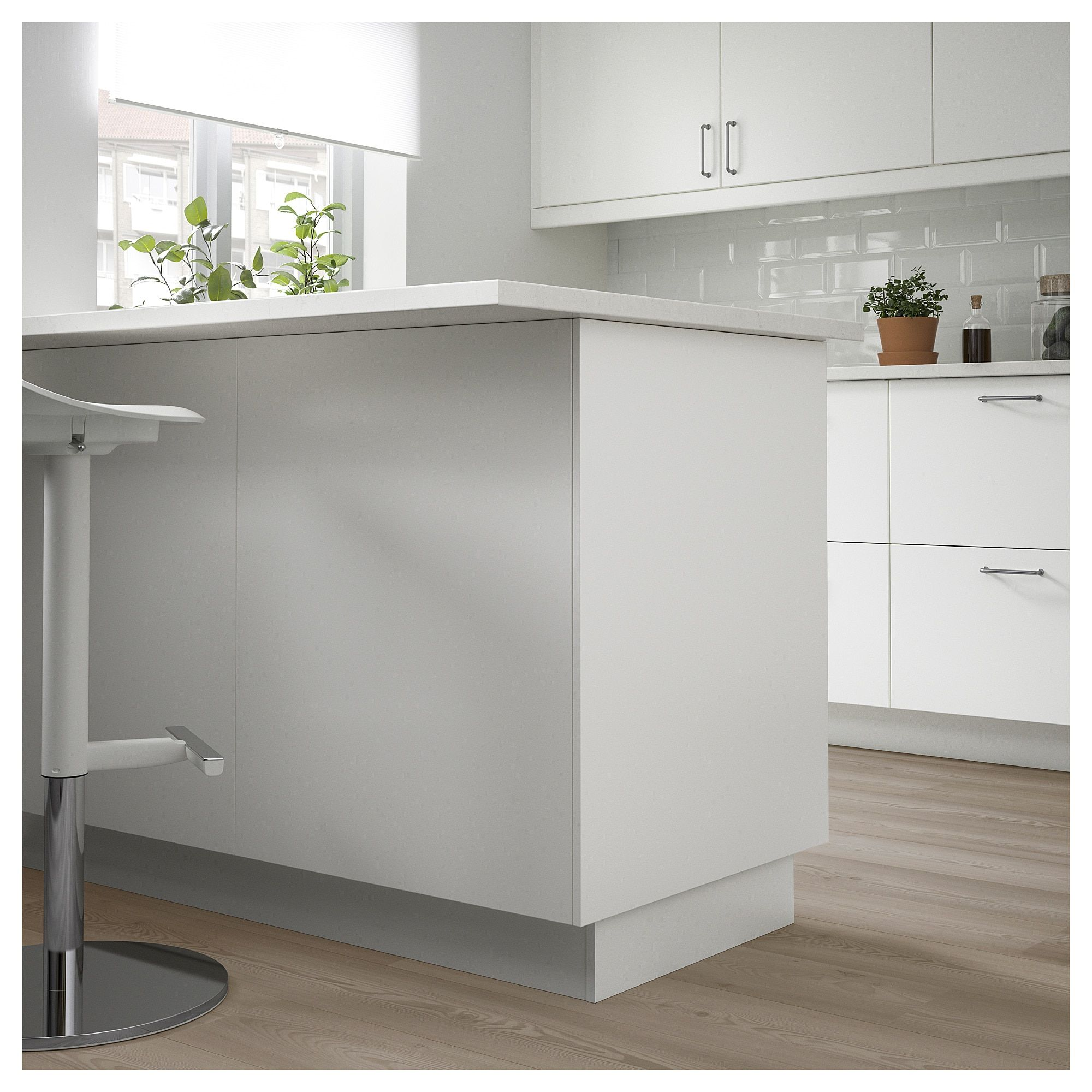 Forbattra Cover Panel White 25x90 63x229 Cm White Paneling High Gloss Kitchen Minimal Kitchen Design
