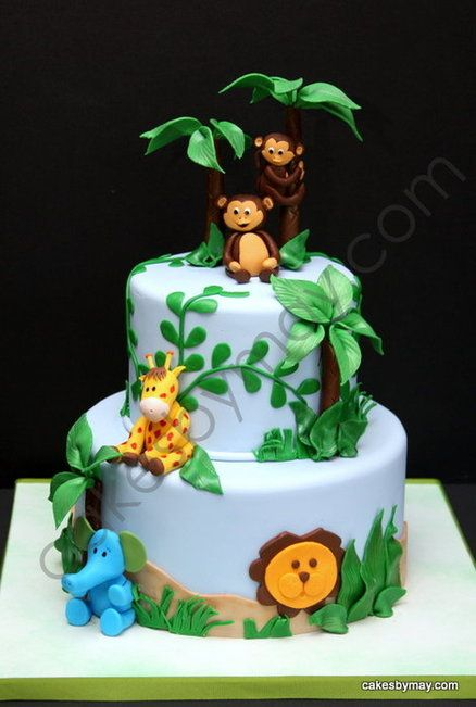 Jungle Baby Shower Cake Cake By Cakesbymaylene Cakes Baby Shower
