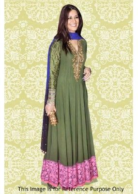 Bollywood Replica - Sonali Bendre In Green Anarkali Suit - 70883