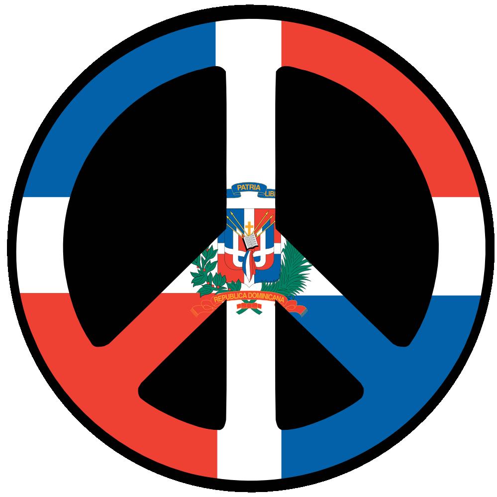 Dominican Flag Dominican Republic Peace Symbol Flag 5 Twee