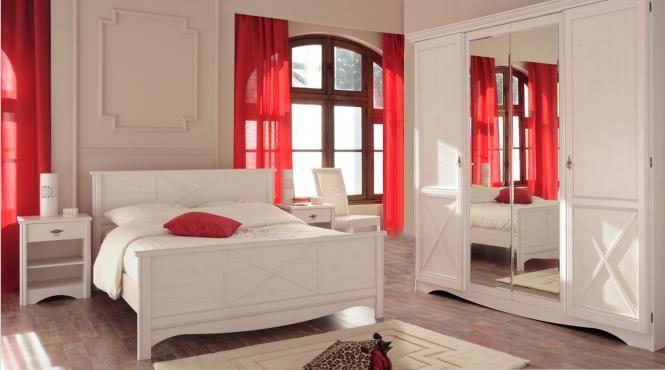 Schlafzimmer-Set 4-tlg inkl 160x200 Bett u Kleiderschrank Marion 4