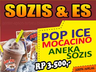 banner jual sosis dan pop ice desain banner spanduk sosis banner jual sosis dan pop ice desain
