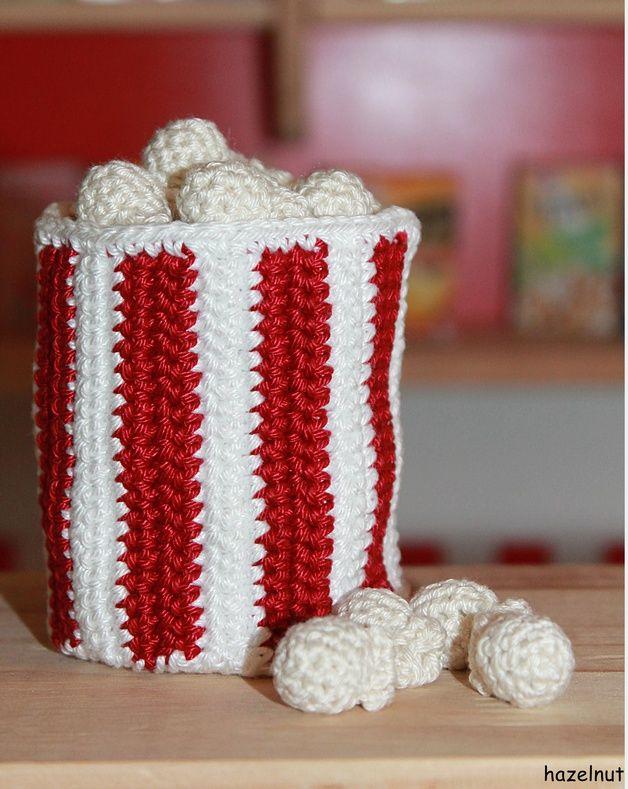 Häkelanleitung, E-Book Popcorn // crocheting tutorial, ebook bucket ...