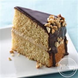Pillsbury peanut butter boston cream cake ....but without the nuts of course!! MMM...maybe with chocolate chip cookie dough