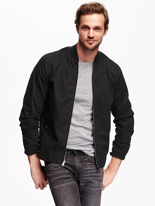 Twill Summer-Weight Bomber Jacket for Men | Mens fashion ...