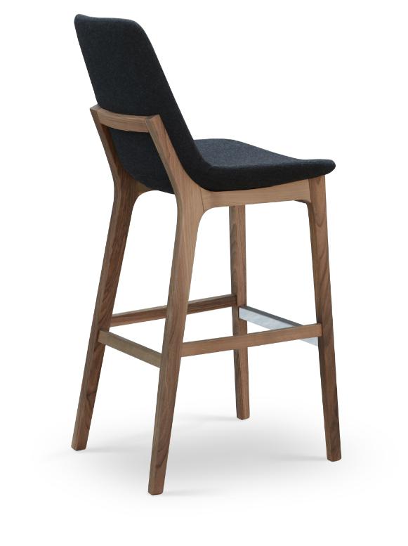 Eiffel Wood Stool 212 Concept Modern Living Bar Stools With
