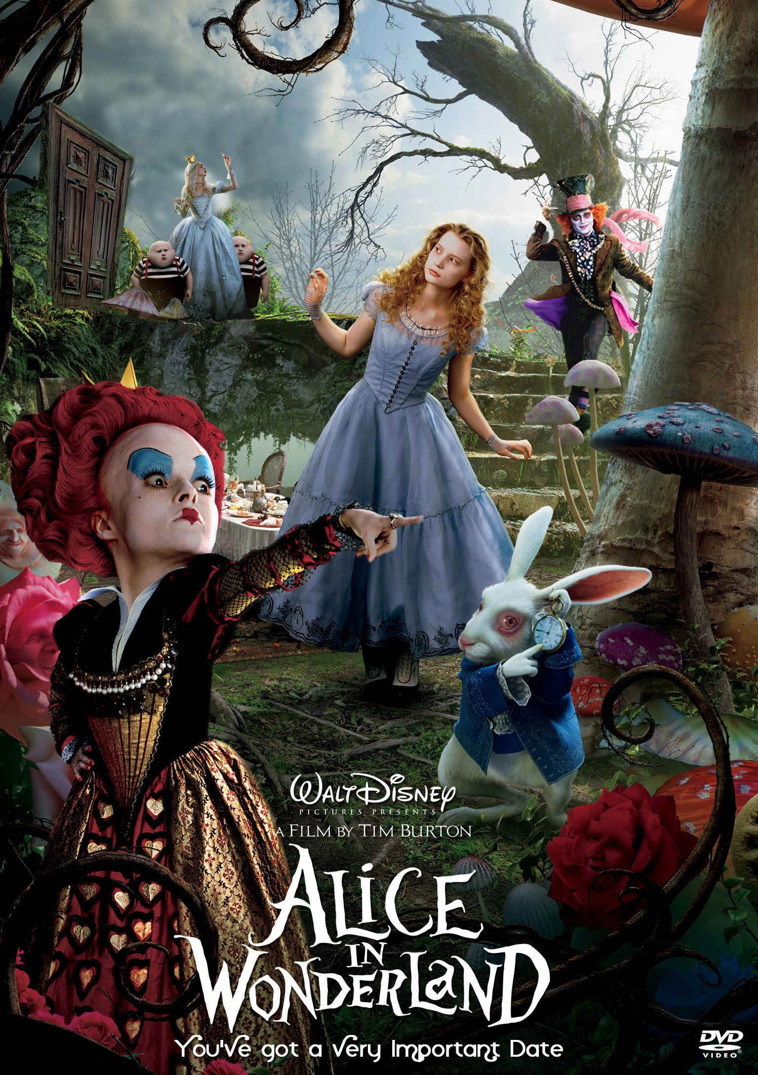 A poster for Alice in Wonderland (2010)