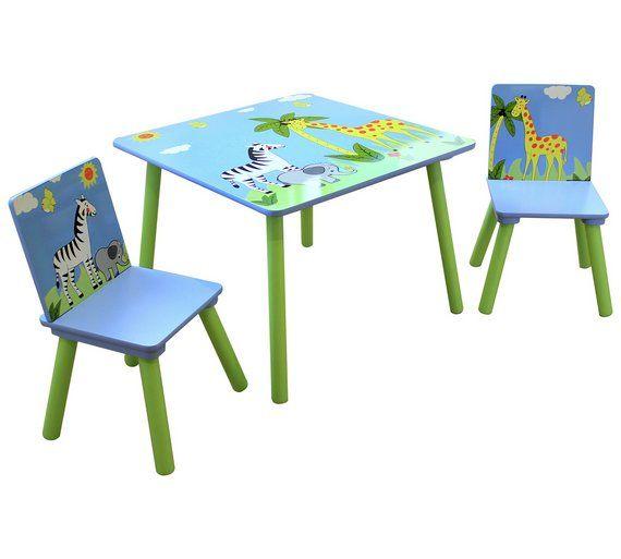 Buy Liberty House Toys Safari Table with 2 Chairs Set at Argos.co.uk  sc 1 st  Pinterest & Buy Liberty House Toys Safari Table with 2 Chairs Set at Argos.co.uk ...