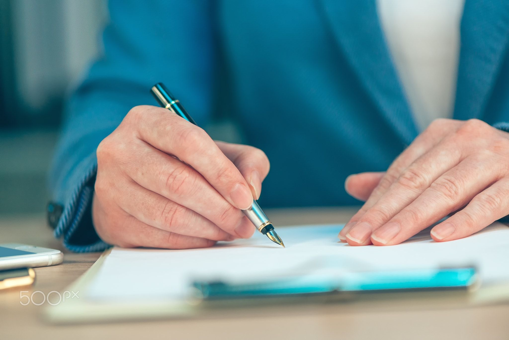 Businesswoman Signing Business Contract Agreement  Businesswoman