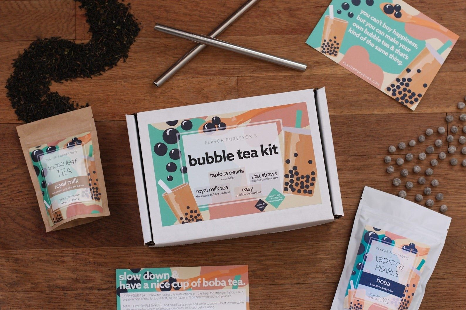 diy boba milk tea kit