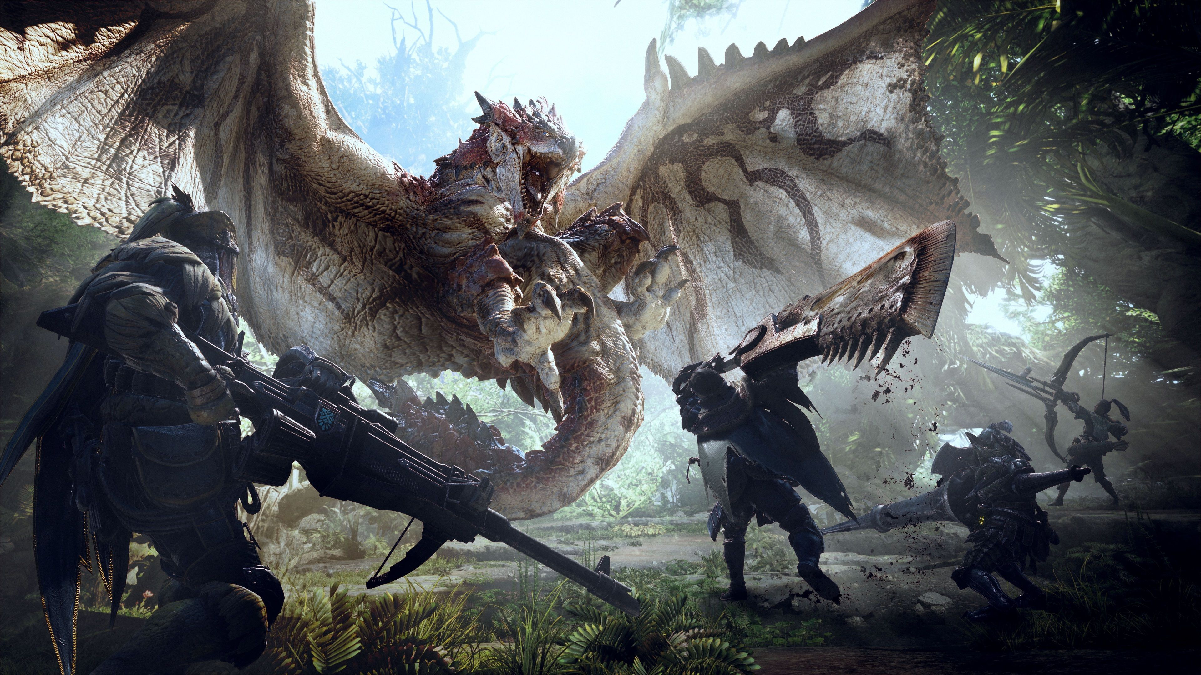 3840x2160 Monster Hunter World 4k Wallpaper Hd Computer Desktop Monster Hunter Monstros Dragoes Lendarios
