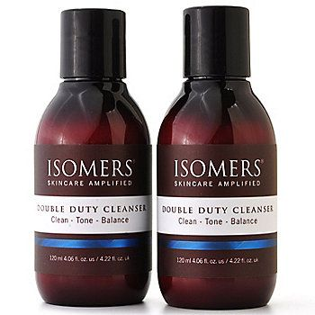 Isomers Double Duty Cleanser Duo 4 06 Oz Each Shophq Com Isomers Skincare Cleanser Skin Care