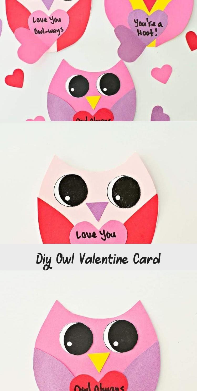 Diy Owl Valentine Card | Cute valentines card, Cute ...