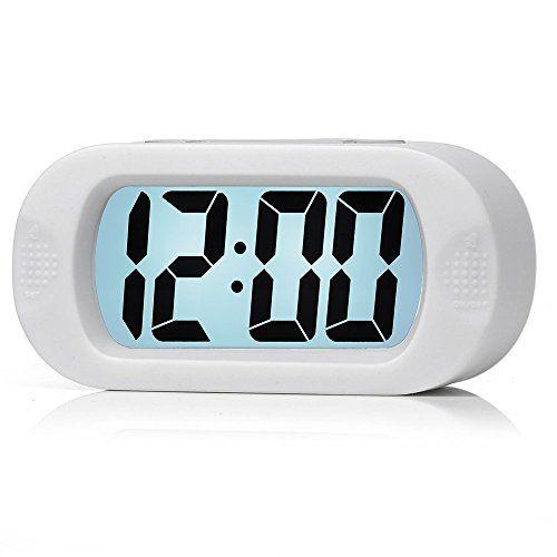 Easy To Set Plumeet Large Digital Lcd Travel Alarm Clock With Snooze Good Night Light Ascending Sound Alarm Handheld Sized Kids Alarm Clock Alarm Clock Clock