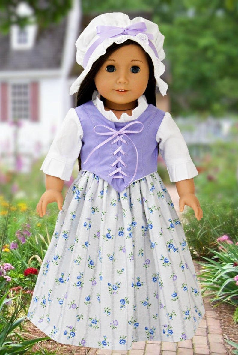 1774 colonial elegance dress #colonialdolldresses