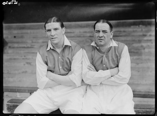 Arsenal footballers Ted Drake and Alex James, 1936, Harold Tomlin © Daily Herald / National Media Museum, Bradford / SSPL