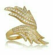 Pretty silver and gold ring.