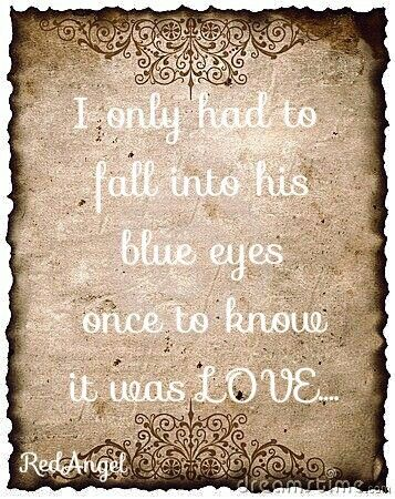 Fall into your eyes....