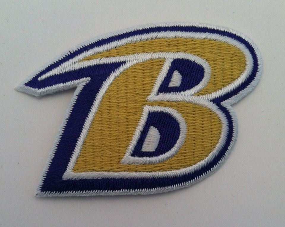 e5cb67dcd37d18 Baltimore Ravens Vintage Embroidered Iron On Patch (Old Stock) 3