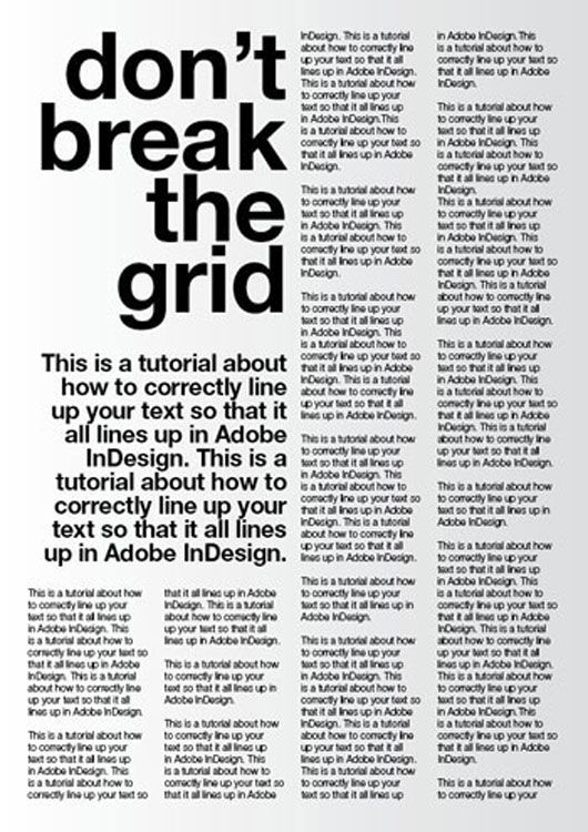 A tutorial for good typography in InDesign - Setting up a baseline ...