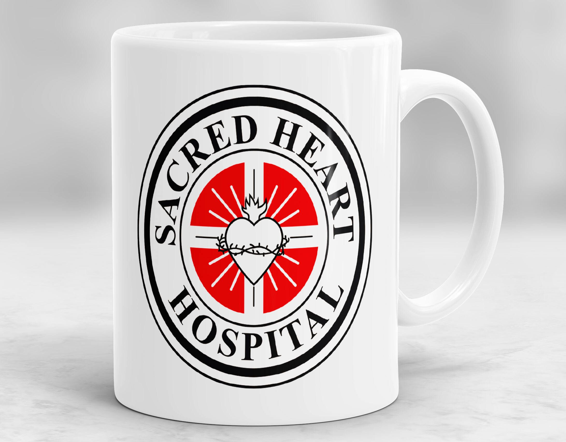 Sacred Heart Hospital Mug Scrubs Mug Tv Series Cup P183 By Mugshopstudio On Etsy Https Www Etsy Com Listing 5764590 Sacred Heart Hospital Mugs Sacred Heart
