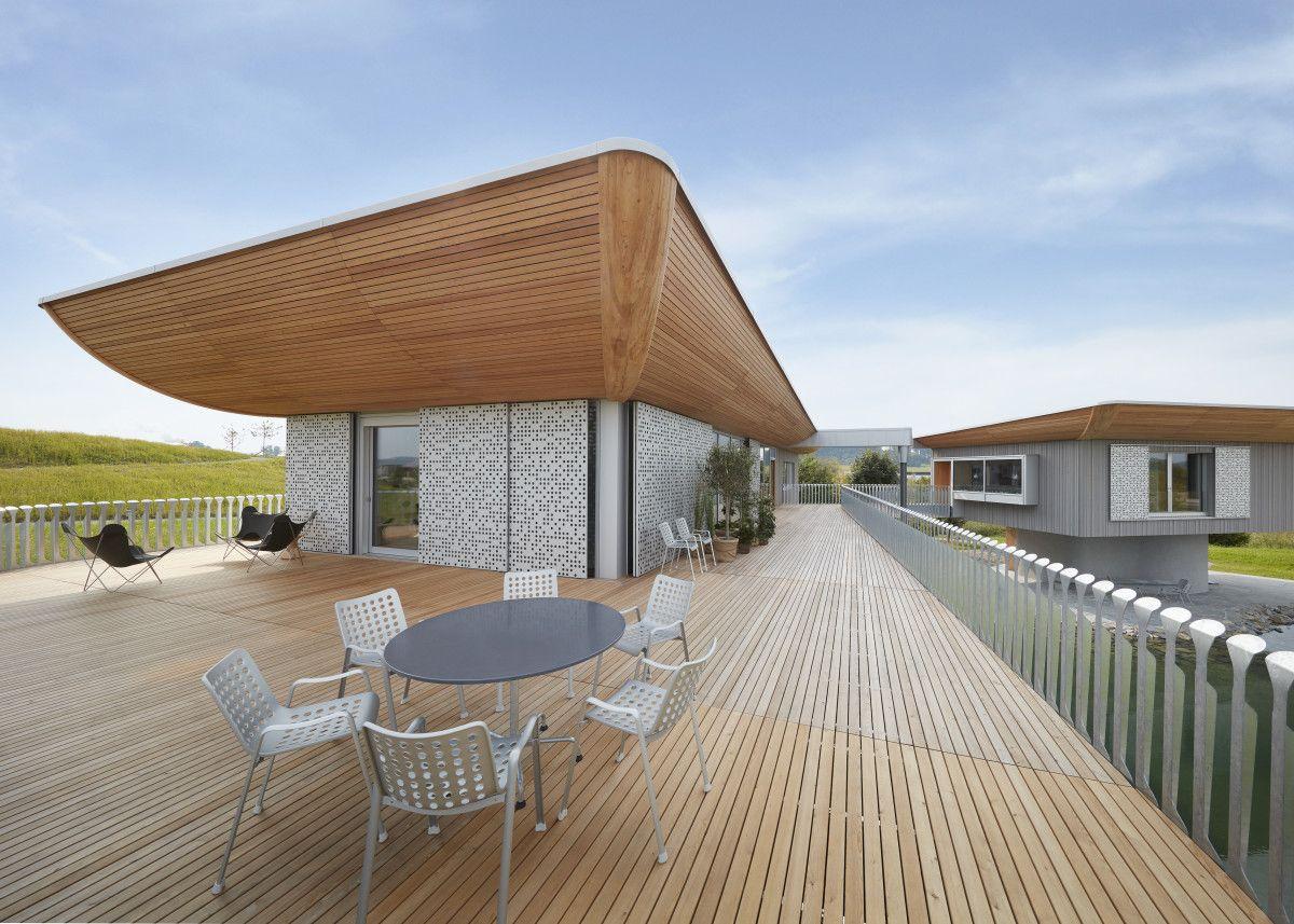 Bezaubernd Dachterrasse Auf Flachdach Bauen Das Beste Von Mit Holzboden - Sicht Von Baufritz -