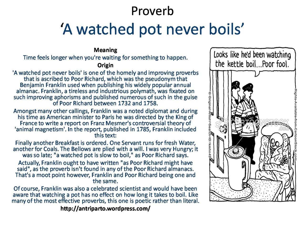 Saying A Watched Pot Never Boils Learnenglish